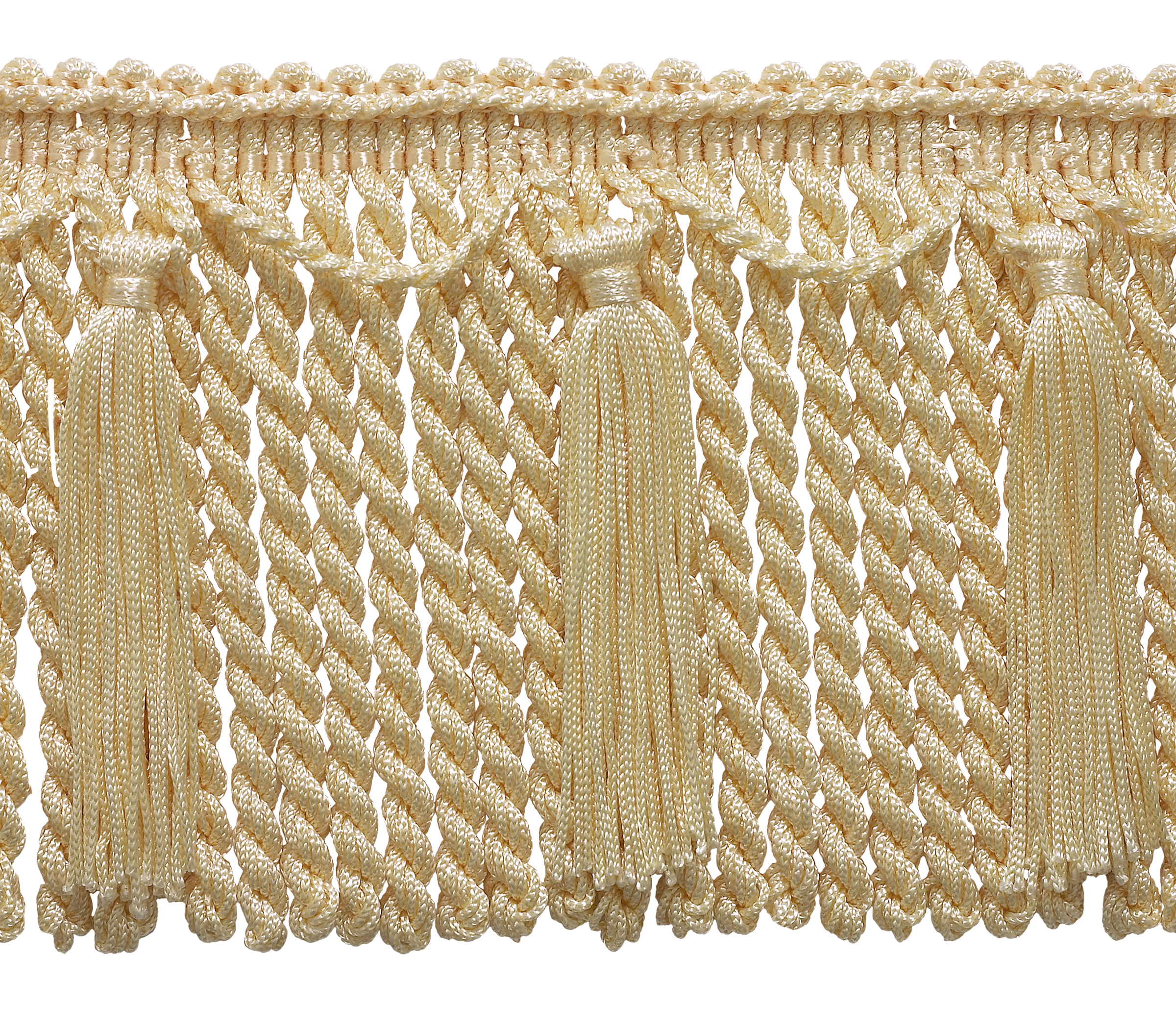 """CHAINETTE BULLION FRINGE 6"""" Style# CBF6 Color: CREAM - A2 (Sold by The Yard)"""